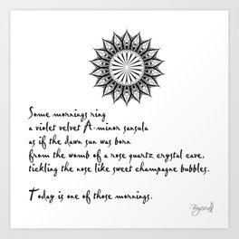 A Morning Poem Art Print