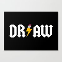 acdc Canvas Prints featuring DR/AW by Byway