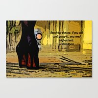 heels Canvas Prints featuring Heels by Dillon Ryan