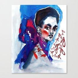 Spring time #fashionillustration Canvas Print