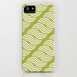 shortwave waves geometric pattern iPhone Case