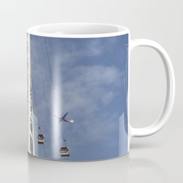 Emirates Cable Car And Flybe Aircraft Coffee Mug