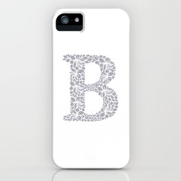 Floral Letter B iPhone Case