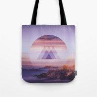 spires Tote Bags featuring Tri-Spires by Adam Egginton