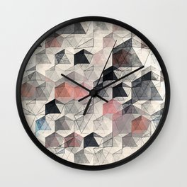 as the curtain falls (variant) Wall Clock