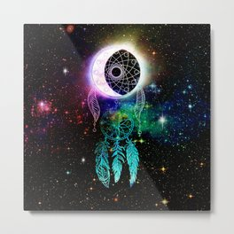 Cosmic Dream Catcher Metal Print