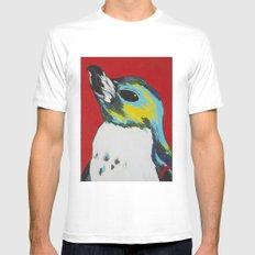 Penguin White MEDIUM Mens Fitted Tee