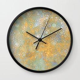 gold arabesque vintage geometric pattern Wall Clock