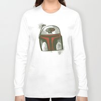 boba Long Sleeve T-shirts featuring STARWARS Boba by Tim Lee