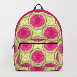 Watermelon Radish Pattern -Bright colorful veggies Backpack