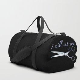 I will cut you (Sapphire) Duffle Bag