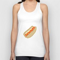 hot dog Tank Tops featuring Hot Dog by Andrew Lynne