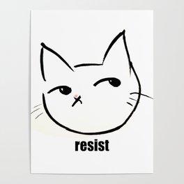 Resist kitty Poster