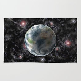 Planet Earth-Space Rug