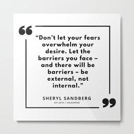 31 | Sheryl Sandberg Quotes | 190902 Metal Print