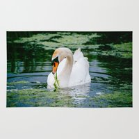 swan Area & Throw Rugs featuring Swan by Robin Öijer Photography
