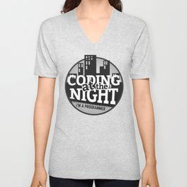 Programmer - Coding at the night Unisex V-Neck
