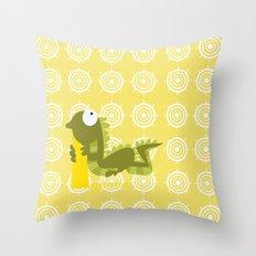 i for iguana Throw Pillow