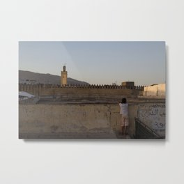 A Moment in Fes Metal Print