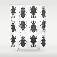 beetle Shower Curtains featuring Beetle by Najla