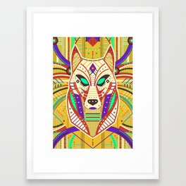 Symmetric Animals. WOLF Framed Art Print