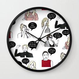 Ladies of New York Wall Clock