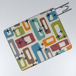 Retro Mid Century Modern Abstract Pattern 224 Picnic Blanket