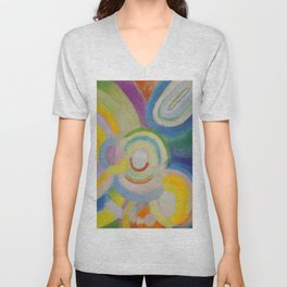"Robert Delaunay ""Colored Discs"" Unisex V-Neck"