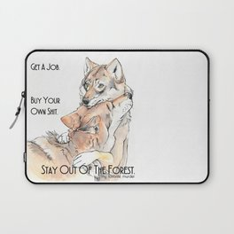MFM: Stay Out of the Forest Laptop Sleeve