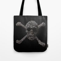 goonies Tote Bags featuring The Goonies Movie Art Print by Skahfee Studios