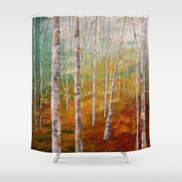 Birch Tree Forest Shower Curtain