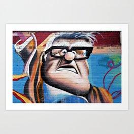 'Up' Street Art Art Print