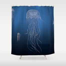 Jellyfish Entangled Shower Curtain