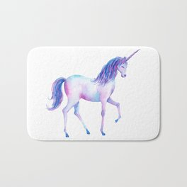 Watercolor Unicorn 2 Bath Mat
