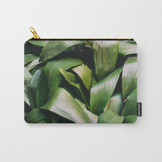 Green Leaves Closeup Pattern Carry-All Pouch