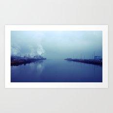 Tacoma tideflats  Art Print