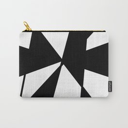 oblique clock- clock,fun,black,red,white,psychedelic,crazy,relativity,abstraction Carry-All Pouch