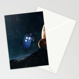 tardis doctor who Stationery Cards