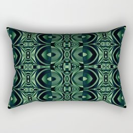 Stained Glass Collection IV Shades Of Palm Leaves Rectangular Pillow