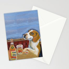 One Beagle, One Scotch, One Beer Stationery Cards