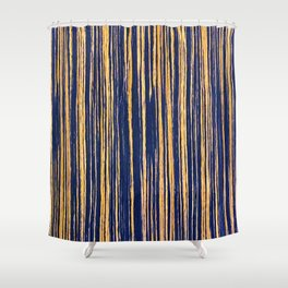Vertical Scratches on Royal Purple Metal Texture Shower Curtain
