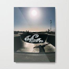 Skating Waves Metal Print