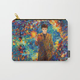 10th Doctor with screwdriver abstract art Carry-All Pouch
