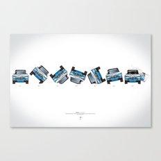 Ari Vatanen-Bruno Berglund, 1989 Paris Dakar crash sequence Canvas Print
