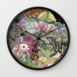 Flora and Fauna of Mexico Wall Clock