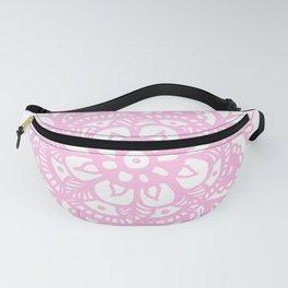Pastel Pink Mandala Flower Fanny Pack
