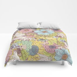 the wild side - summer tones Comforters