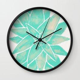 Aloe Vera – Mint Palette Wall Clock