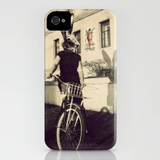 Bunny on Bicycle iPhone (4, 4s) Slim Case