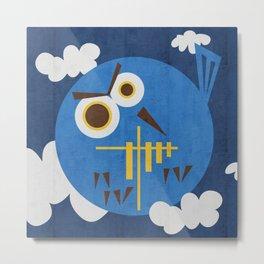 spooky animal is owl Metal Print